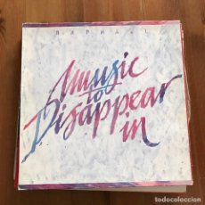 Discos de vinilo: RAPHAEL - MUSIC TO DISAPPEAR IN - LP SONIFOLK 1990. Lote 113317243