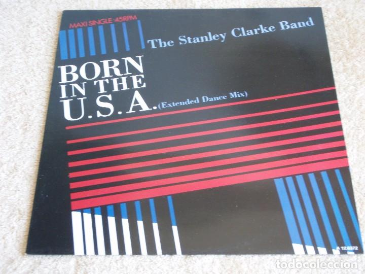 THE STANLEY CLARKE BAND ( BORN IN THE U.S.A. 2 VERSIONES - CAMPO AMERICANO ) 1985-HOLANDA MAXI (Música - Discos de Vinilo - Maxi Singles - Jazz, Jazz-Rock, Blues y R&B)