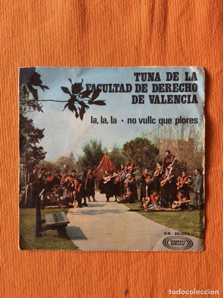 TUNA FACULTAD DERECHO VALENCIA DISCO PEQUEÑO SONOPLAY (Música - Discos - Singles Vinilo - Pop - Rock Extranjero de los 50 y 60)
