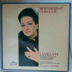 Discos de vinilo: DOBLE LP MONSERRAT CABALLÉ. LA VILLANA.. Lote 113346163