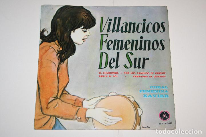 VILLANCICOS FEMENINOS DEL SUR *** SINGLE VINILO (1966) *** PAX (DISCOTECA POPULAR CATÓLICA) *** (Música - Discos - Singles Vinilo - Otros estilos)