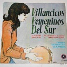Discos de vinilo: VILLANCICOS FEMENINOS DEL SUR *** SINGLE VINILO (1966) *** PAX (DISCOTECA POPULAR CATÓLICA) *** . Lote 113352023