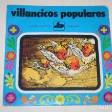 Discos de vinilo: VILLANCICOS POPULARES: LOS CAMPANILLEROS + SATATUMBA *** SINGLE VINILO (1971) *** DIM *** . Lote 113352439