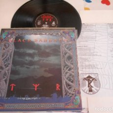 Discos de vinilo: BLACK SABBATH-LP TYR-LETRAS-GREECE. Lote 135879622