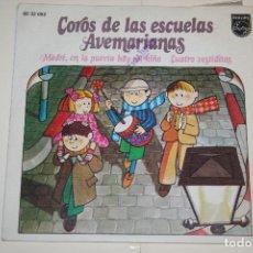 Discos de vinilo: COROS DE LAS ESCUELAS AVEMARIANAS *** VINILO SINGLE (1973) *** FONOGRAM *** . Lote 113356619