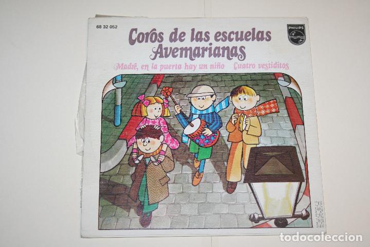 Discos de vinilo: COROS DE LAS ESCUELAS AVEMARIANAS *** VINILO SINGLE (1973) *** FONOGRAM *** - Foto 2 - 113356619