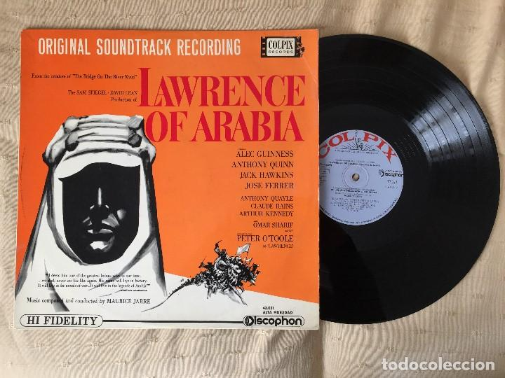 LAWRENCE OF ARABIA LP 1963 (Música - Discos de Vinilo - EPs - Bandas Sonoras y Actores)