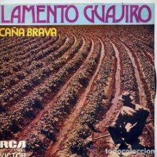 Discos de vinilo: CAÑA BRAVA: LAMENTO GUAJIRO / ME GUSTAN TODAS...TODAS (SG PROMO 1972-73). Lote 113393963