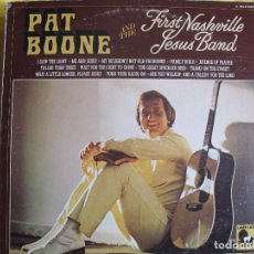 Discos de vinilo: LP - PAT BOONE AND THE FIRST NASHVILLE JESUS BAND - SAME (USA, LAMB LION RECORDS 1972). Lote 113395967