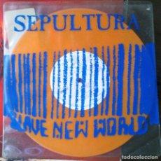 Discos de vinilo: SEPULTURA, SLAVE NEW WORLD, ÉP, 10''. Lote 113409055