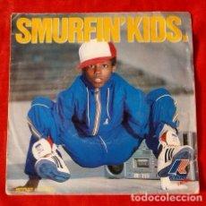 Discos de vinilo: BREAKDANCE (SINGLE FRANCE 1984) SMURFIN' KIDS K-WAY L'ACTION - DISCO PBLICITARIO K WAY SMURFING KIDS. Lote 113409579