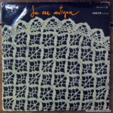 Disques de vinyle: LA VOZ ANTIGUA - 1979 - MUSICA TRADICIONAL, IBIZA, FORMENTERA, GALICIA, MALLORCA, PALENCIA - TRIPLE. Lote 113419467