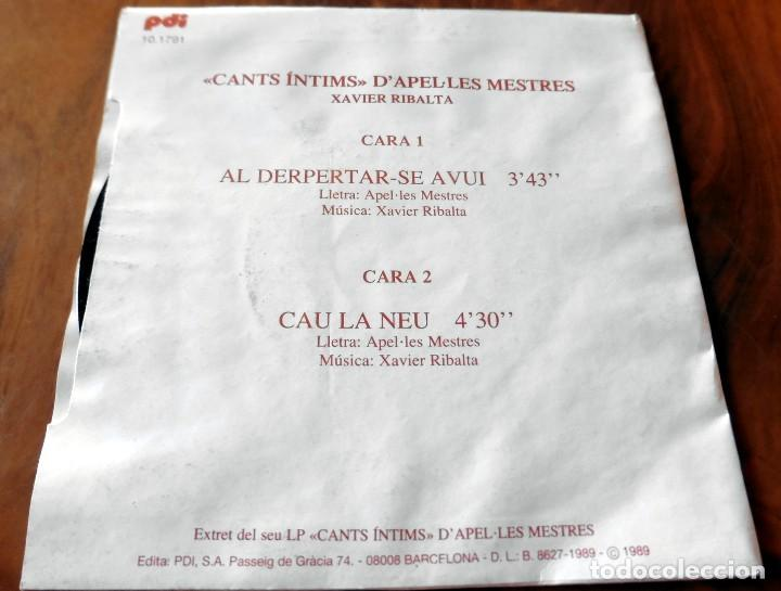 Discos de vinilo: SINGLE - PDI - XAVIER RIBALTA - CANTS INTIMS - Foto 2 - 113427967