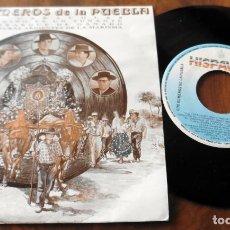 Discos de vinilo: SINGLE - HISPAVOX - LOS ROMEROS DE LA PUEBLA - SUS CARACOLES. Lote 113429583