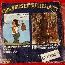 Discos de vinilo: RUDY VENTURA (SINGLE 1977) HABIA UNA VEZ UN CIRCO - FELIZ FELIZ EN TU DIA - PAYASOS E. ARAGON. Lote 113430551