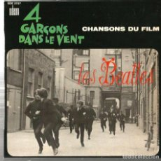 Discos de vinilo: EP LES BEATLES : 4 GARÇONS DANS LE VENT ( CHANSONS DU FILM ) EXCELENTE SONIDO . Lote 113433839