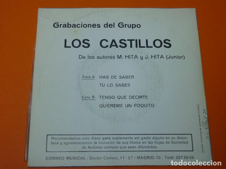 Discos de vinilo: LOS CASTILLOS-HAS DE SABER+3- EP 45 VINILO- BERTA 1973- PROMO - Foto 2 - 113443631