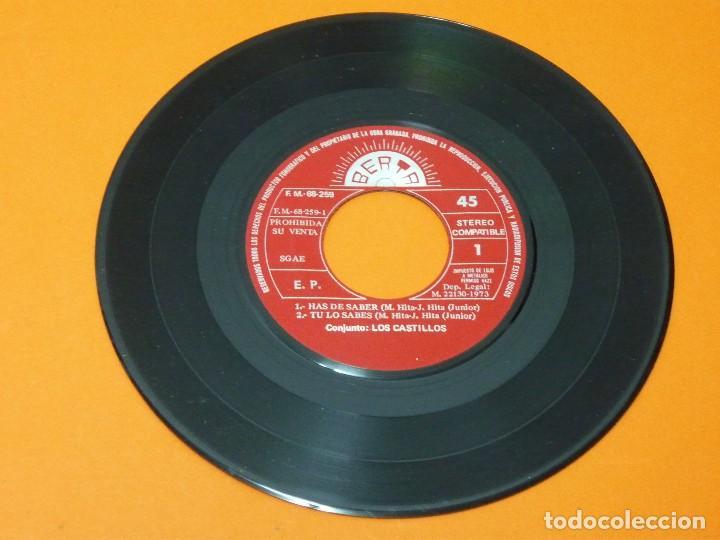 Discos de vinilo: LOS CASTILLOS-HAS DE SABER+3- EP 45 VINILO- BERTA 1973- PROMO - Foto 3 - 113443631