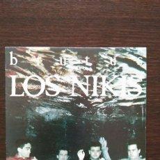 Discos de vinilo: LOS NIKIS - BRUTUS / ALGETE ARDE / SINGLE PROMO - 3 CIPRESES ?– 1C-184 - 1987 - COMO NUEVO. Lote 113470147
