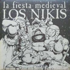 Discos de vinilo: LOS NIKIS ?– LA FIESTA MEDIEVAL + 1 / SINGLE PROMO - 3 CIPRESES ?– 1C-0631 - 1989 COMO NUEVO. Lote 113470883