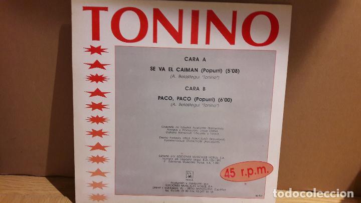 Discos de vinilo: TONINO / HOLIDAY RUMBA / VOL 4 / MAXI SG / HORUS - 1991 / CALIDAD LUJO / ****/**** - Foto 2 - 113471119