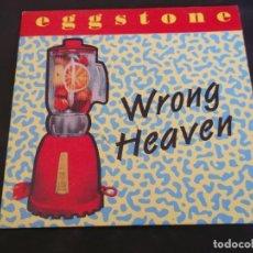Discos de vinilo: EGGSTONE ?– WRONG HEAVEN - SINGLE PROMO - SELLO DUSTY ROAD 1993. Lote 113495047