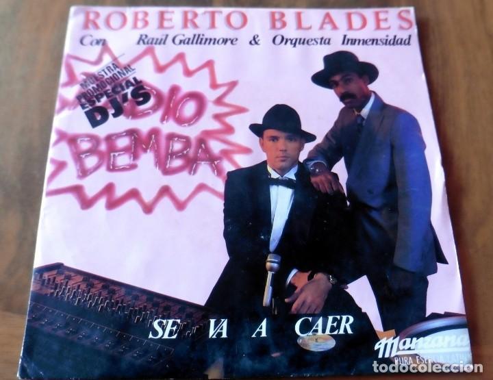 SINGLE - MANZANA - ROBERTO BLADES CON RAÚL GALLIMORE & PRQUEATA INMENSIDAD (Música - Discos - Singles Vinilo - Grupos y Solistas de latinoamérica)