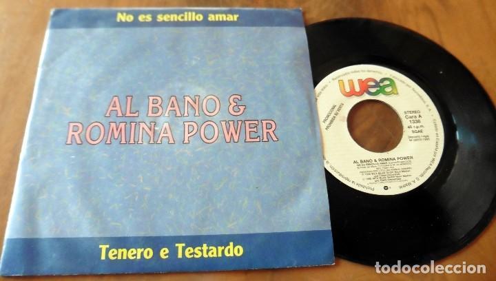 SINGLE - WEA - ALBANO & ROMINA POWER - TENERO E TESTARDO ( DISCO PROMOCIONAL) (Música - Discos - Singles Vinilo - Canción Francesa e Italiana)