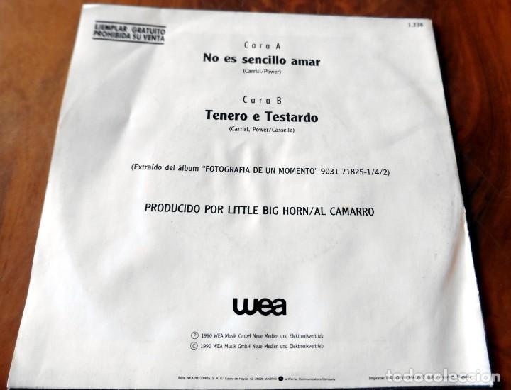 Discos de vinilo: SINGLE - WEA - ALBANO & ROMINA POWER - TENERO E TESTARDO ( DISCO PROMOCIONAL) - Foto 2 - 113544435