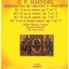 Discos de vinilo: MILAN SLECHTA: HAENDEL CONCIERTOS DE ORGANO Y ORQUESTA . ORGANO - LP 1971 DISCOPHON. Lote 113556771
