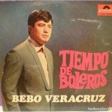 Discos de vinilo: BEBO VERACRUZ - TIEMPO DE BOLEROS - LP. EDICIÓN ARGENTINA. Lote 113577399