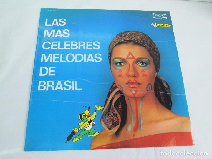 Discos de vinilo: LAS MAS CELEBRES MELODIAS DE BRASIL. LP VINILO. MARFER 1972. VER FOTOGRAFIAS - Foto 2 - 113583007