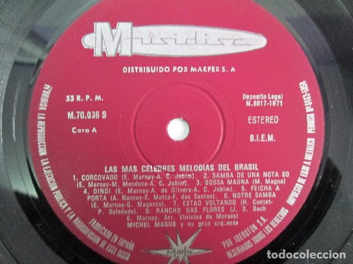 Discos de vinilo: LAS MAS CELEBRES MELODIAS DE BRASIL. LP VINILO. MARFER 1972. VER FOTOGRAFIAS - Foto 4 - 113583007