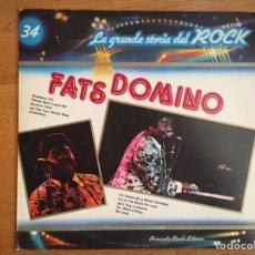 Discos de vinilo: FATS DOMINO: LA GRANDE STORIA DEL ROCK. Lote 113596502