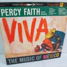 Discos de vinilo: PERCY FAITH AND HIS ORCHESTRA. THE MUSIC OF MEXICO. LP VINILO. COLUMBIA. Lote 113608799