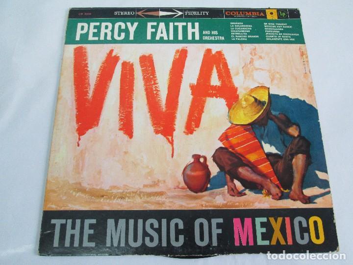 Discos de vinilo: PERCY FAITH AND HIS ORCHESTRA. THE MUSIC OF MEXICO. LP VINILO. COLUMBIA - Foto 2 - 113608799
