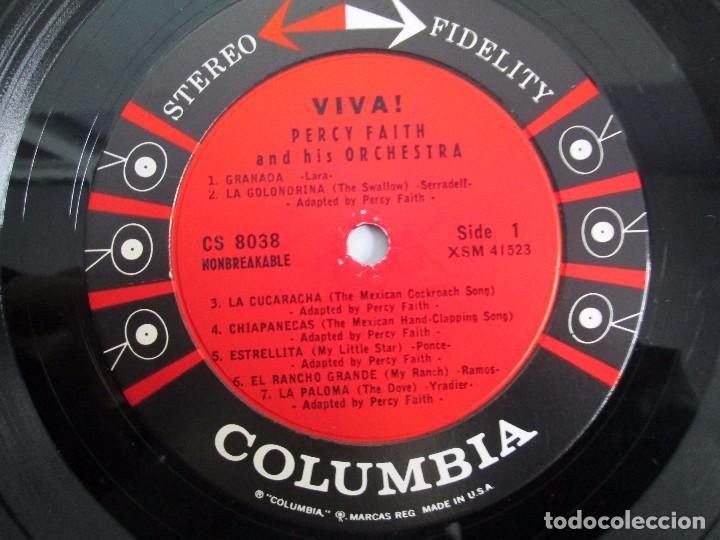 Discos de vinilo: PERCY FAITH AND HIS ORCHESTRA. THE MUSIC OF MEXICO. LP VINILO. COLUMBIA - Foto 4 - 113608799