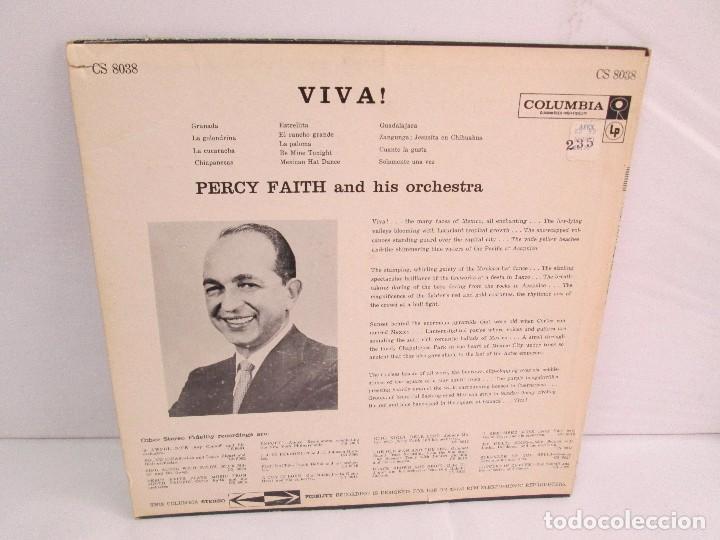 Discos de vinilo: PERCY FAITH AND HIS ORCHESTRA. THE MUSIC OF MEXICO. LP VINILO. COLUMBIA - Foto 10 - 113608799