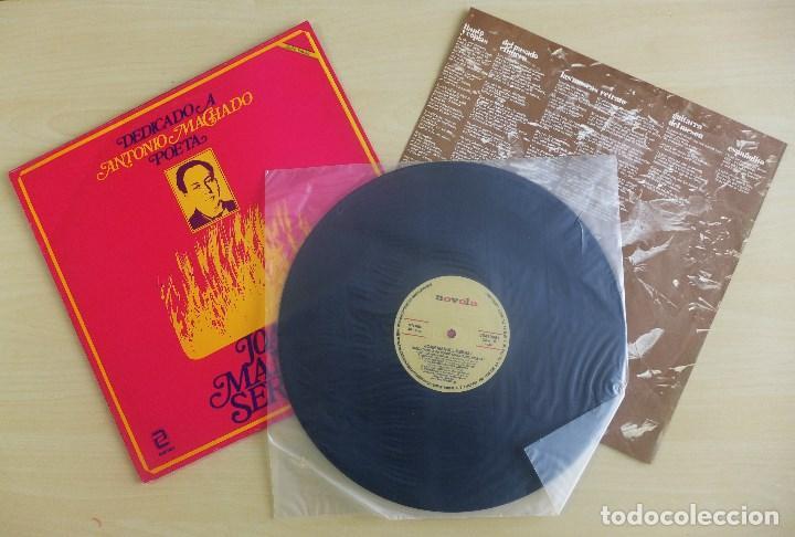 JOAN MANUEL SERRAT - DEDICADO A ANTONIO MACHADO - VINILO ORIGINAL ZAFIRO/NOVOLA 1969 (Música - Discos de Vinilo - EPs - Cantautores Españoles)
