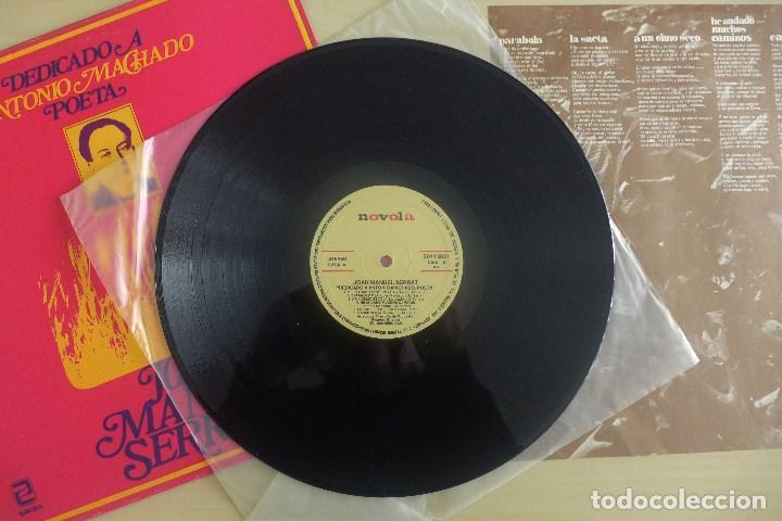 Discos de vinilo: JOAN MANUEL SERRAT - DEDICADO A ANTONIO MACHADO - VINILO ORIGINAL ZAFIRO/NOVOLA 1969 - Foto 4 - 113617339