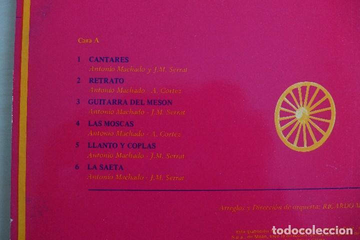 Discos de vinilo: JOAN MANUEL SERRAT - DEDICADO A ANTONIO MACHADO - VINILO ORIGINAL ZAFIRO/NOVOLA 1969 - Foto 8 - 113617339