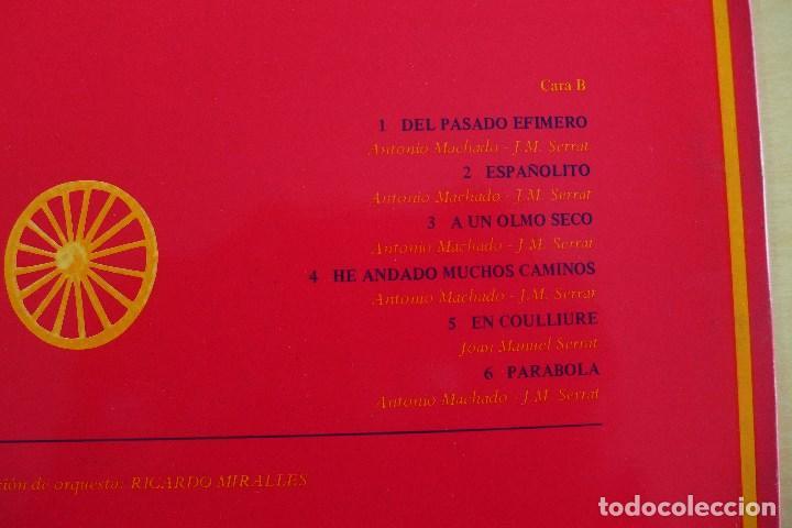 Discos de vinilo: JOAN MANUEL SERRAT - DEDICADO A ANTONIO MACHADO - VINILO ORIGINAL ZAFIRO/NOVOLA 1969 - Foto 9 - 113617339