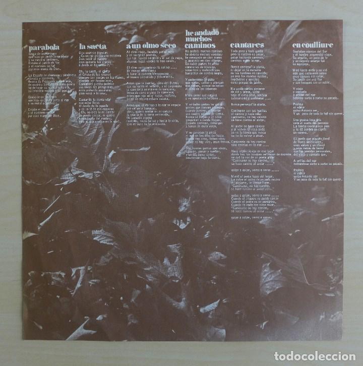 Discos de vinilo: JOAN MANUEL SERRAT - DEDICADO A ANTONIO MACHADO - VINILO ORIGINAL ZAFIRO/NOVOLA 1969 - Foto 11 - 113617339