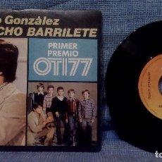 Discos de vinilo: GUAYO GONZÁLEZ – QUINCHO BARRILETE + 1 - SINGLE DE VINILO - PRIMER PREMIO OTI 77 - CBS 5877 EX. Lote 113630691
