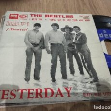 Discos de vinilo: EP THE BEATLES HELP SOCORRO +2 PORTADA BIEN DISCO BUEN SONIDO. Lote 113632507