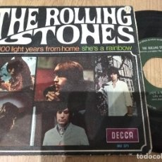 Discos de vinilo: SINGLE THE ROLLING STONES 2000 LIGHT YEARS FROM HOME MUY BUEN SONIDO. Lote 113633231