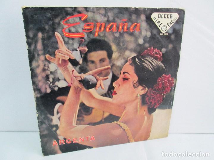 ESPAÑA. ARGENTA. LP VINILO. DECCA 1958. VER FOTOGRAFIAS ADJUNTAS. (Música - Discos - LP Vinilo - Flamenco, Canción española y Cuplé)