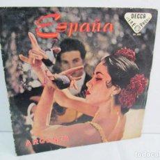 Discos de vinilo: ESPAÑA. ARGENTA. LP VINILO. DECCA 1958. VER FOTOGRAFIAS ADJUNTAS.. Lote 113633567