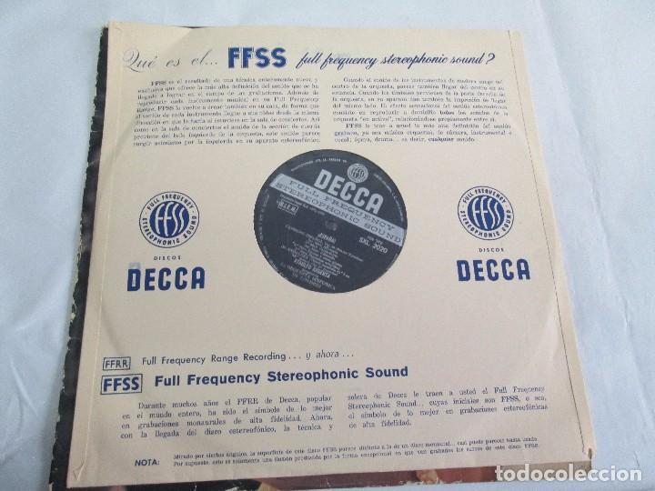 Discos de vinilo: ESPAÑA. ARGENTA. LP VINILO. DECCA 1958. VER FOTOGRAFIAS ADJUNTAS. - Foto 10 - 113633567