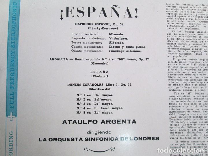 Discos de vinilo: ESPAÑA. ARGENTA. LP VINILO. DECCA 1958. VER FOTOGRAFIAS ADJUNTAS. - Foto 11 - 113633567